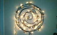 Spiral of twinkly lights