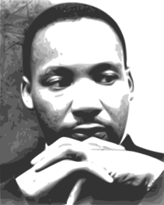 Martin Luther King Jr. contemplative pose