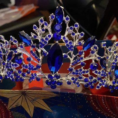 tiara blue diadem
